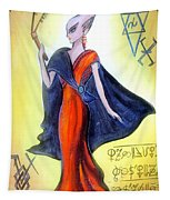 Young Queen Of Space Alien Civilization Tapestry