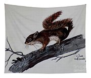 Young Squirrel Tapestry