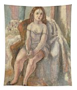 Young Woman In White Chemise Tapestry