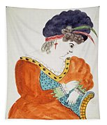 Young Woman Wearing A Turban  Tapestry