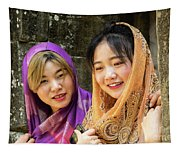 Young Women Silk Scarves 01 Tapestry