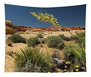 Yucca In The Valley Of Fire Tapestry