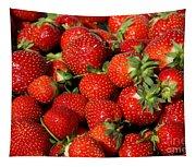 Yummy Fresh Strawberries Tapestry