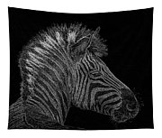 Zebra Computer Drawing Tapestry