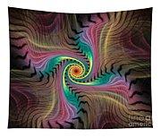 Zebra Spiral Affect Tapestry