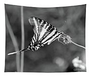 Zebra Swallowtail Butterfly Black And White Tapestry