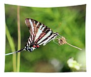 Zebra Swallowtail Butterfly In Garden 2016 Tapestry