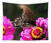 Zinnia Visitor 3 Tapestry