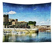 Zokoa Harbor Fortress - Vintage Version Tapestry