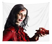Zombie Shaking Severed Hand Tapestry