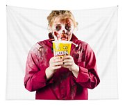 Zombie Woman With Popcorn Tapestry