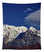 Annapurna South Peak And Pass In The Himalaya Mountains, Annapurna Region, Nepal Tapestry by Raimond Klavins