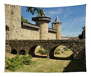 Bridge At Carcassonne Tapestry