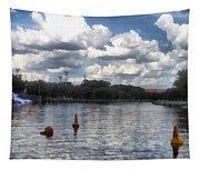 Buoys In The River Tapestry