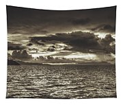 Dreamy Tahitian Sunset Tapestry