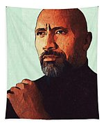 Dwayne Johnson Artwork Tapestry