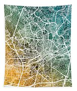 Frankfurt Germany City Map Tapestry