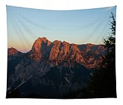 Glowing Mountains Tapestry
