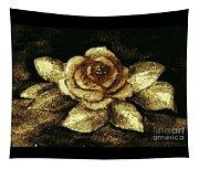 Antique Gold Rose Tapestry