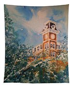 Ice On Old Main Tapestry