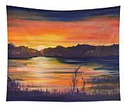 Lake Sunset  Tapestry