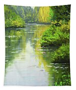 lily Pond reflections Tapestry