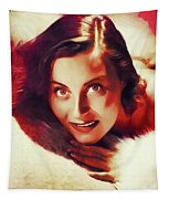 Michele Morgan, Vintage Actress Tapestry