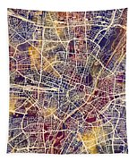 Munich Germany City Map Tapestry