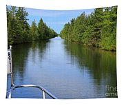 Narrow Cut On The Trent Severn Waterway Tapestry