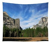 North Dome And Half Dome, Yosemite National Park Tapestry