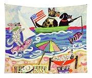Patriotic Puppies Tapestry
