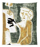 Piano Player Tapestry