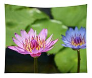 Pink Lotus Water Flower Tapestry