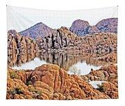 Prescott Arizona Watson Lake Rocks, Hills Water Sky Clouds 3122019 4868 Tapestry