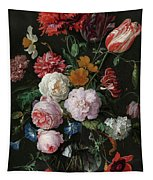 Still Life With Flowers In A Glass Vase, 1683 Tapestry