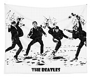 The Beatles Black And White Watercolor 01 Tapestry