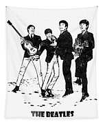 The Beatles Black And White Watercolor 02 Tapestry