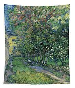 The Garden Of The Asylum At Saint-remy Tapestry