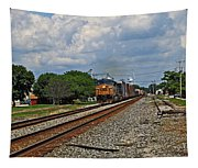 Train In Motion Tapestry