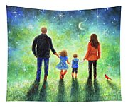 Twilight Walk With Mom And Dad Tapestry