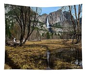 Upper And Lower Yosemite Falls Tapestry