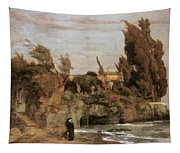 Villa By The Sea  Tapestry