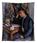 Young Man And Skull Tapestry