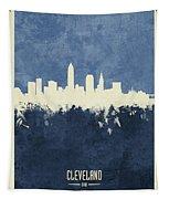 Cleveland Ohio Skyline Tapestry