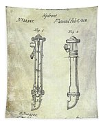 1859 Fire Hydrant Patent Tapestry