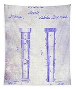 1860 Fire Hose Nozzle Patent Blueprint Tapestry