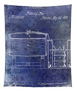 1870 Beer Preserving Patent Blue Tapestry