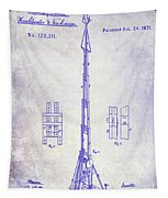 1871 Fire Hose Elevator Patent Blueprint  Tapestry