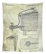 1881 Beer Faucet Patent Tapestry