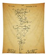 1885 Plow Patent Tapestry
